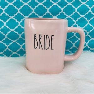 2/25 Rae Dunn pink black BRIDE ceramic mug